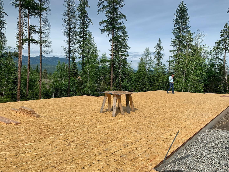 New dance floor in the making! whitefish custom home builder