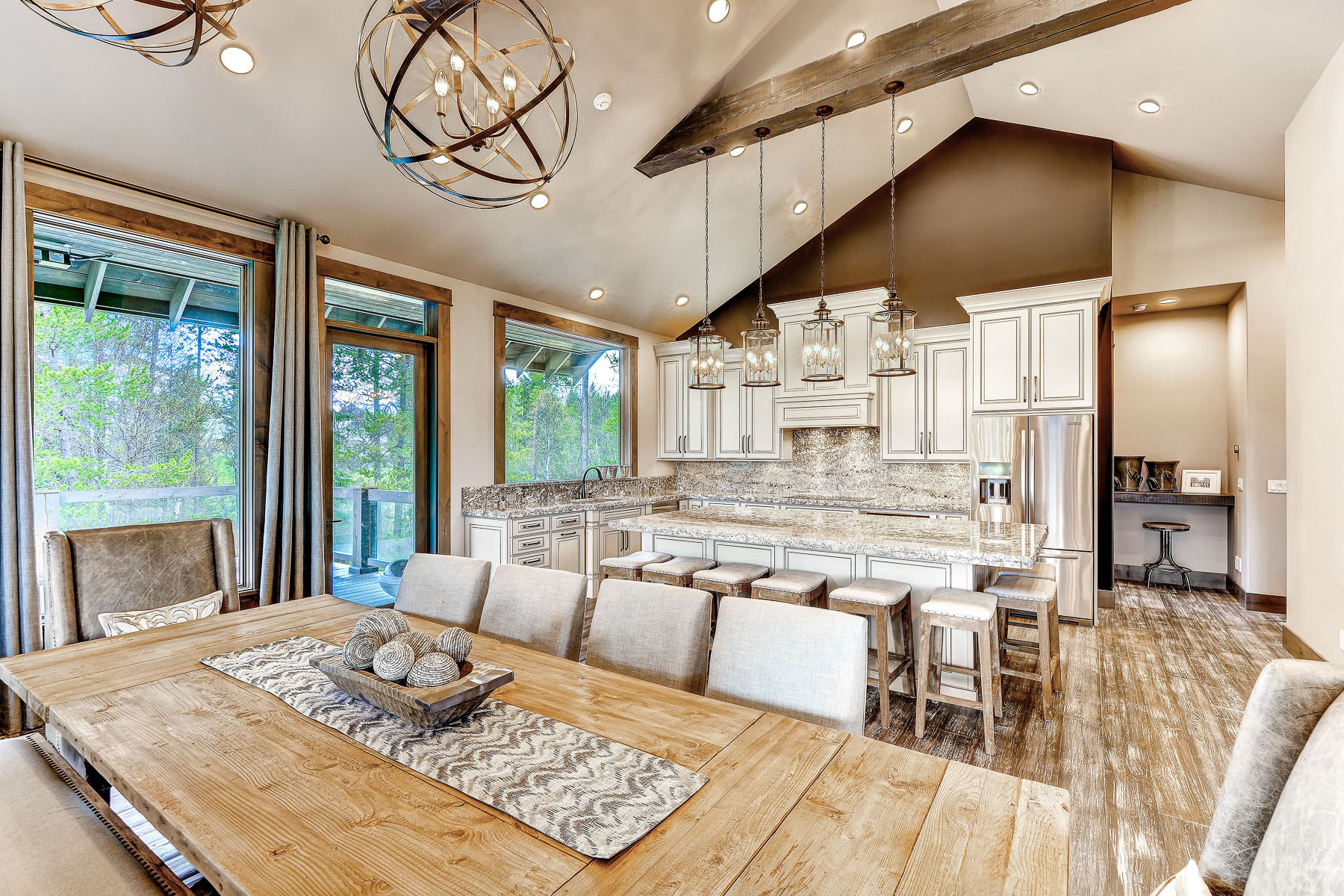 The Hollywood custom home whitefish lake river