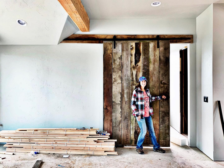 Big enough barn door whitefish custom home builder