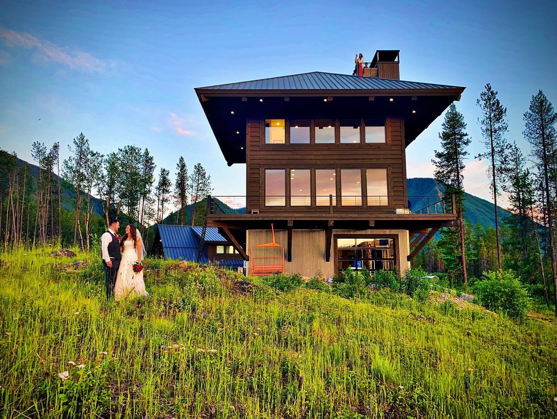 Montana dream wedding venue  @somertreat whitefish custom home builder