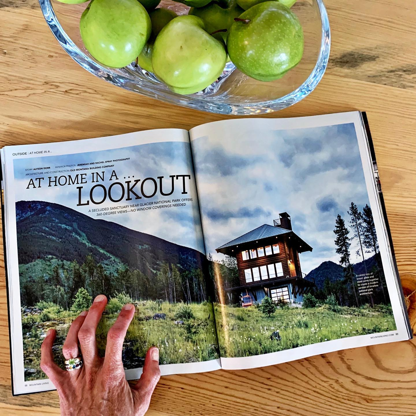 This month's Mountain Living magazine  and I get to live here!  @mountainlivingmag whitefish custom home builder
