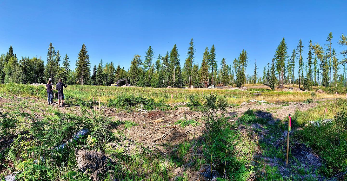 Saturday jobsite review...look at all that bluesky!! whitefish custom home builder