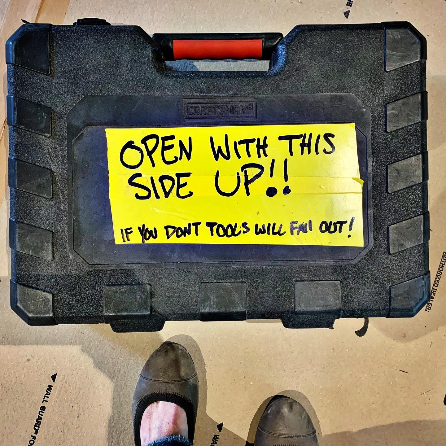 Job site tools...this made me laugh all day. I mean, who hasn't done this at least once?! whitefish custom home builder