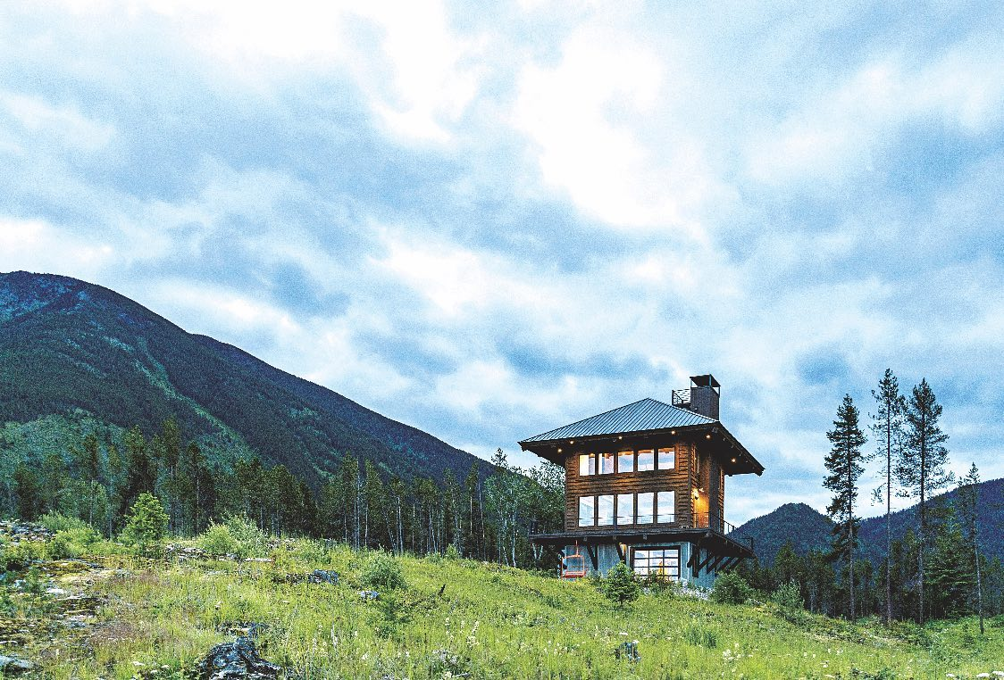 """Check out """"At Home in a Lookout"""" in this month's Mountain Living Rustic issue  @mountainlivingmag whitefish custom home builder"""