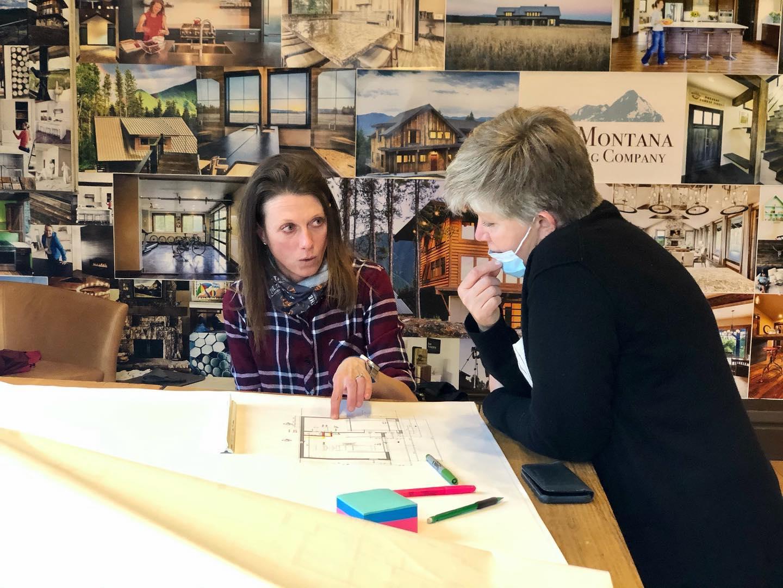 Design session  @designehitefish whitefish custom home builder