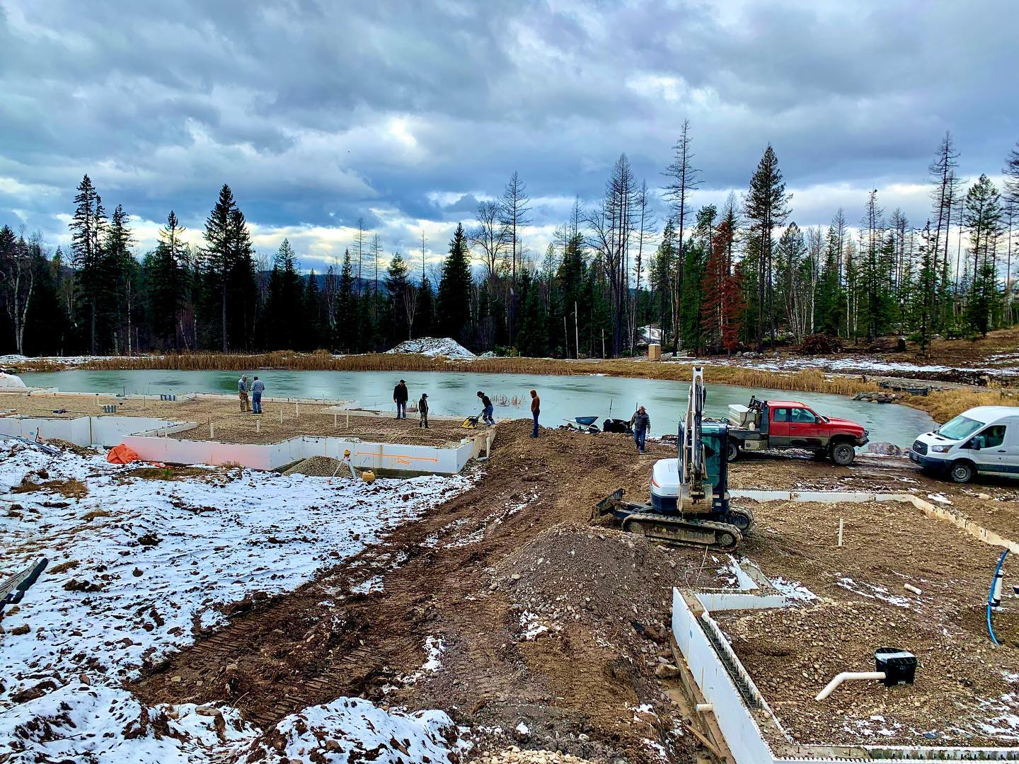 Thankful for very little snow at Thanksgiving! whitefish custom home builder