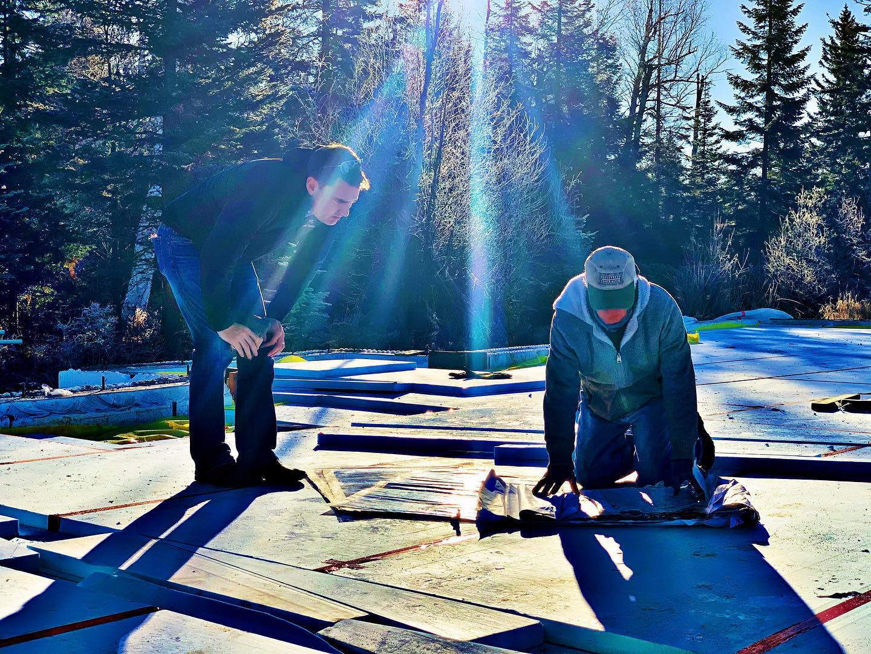 Sunshine in December...we will take it!! whitefish custom home builder