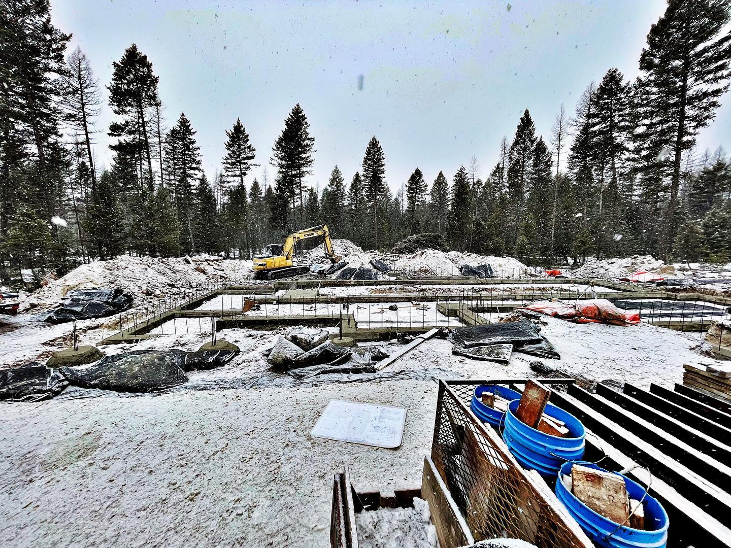 Yes, we start projects all winter long  we've had a good couple weeks for another Old MT foundation! whitefish custom home builder