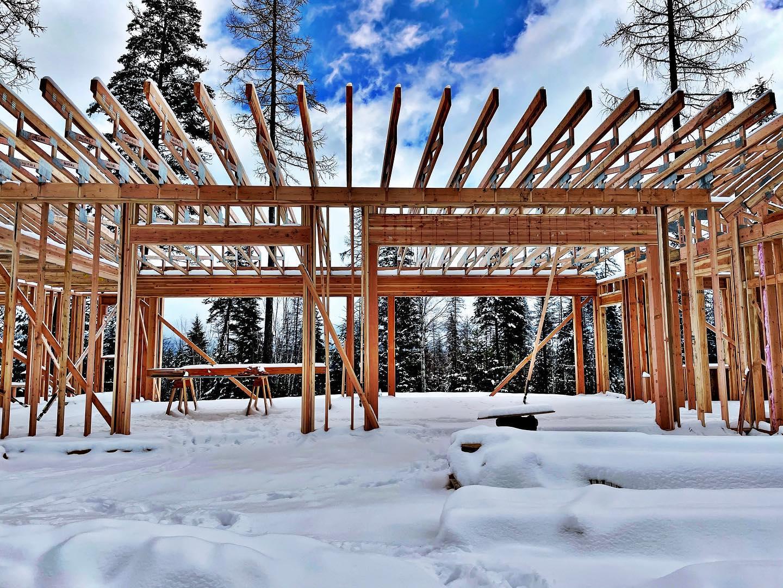 We got another taste of winter in Whitefish! whitefish custom home builder