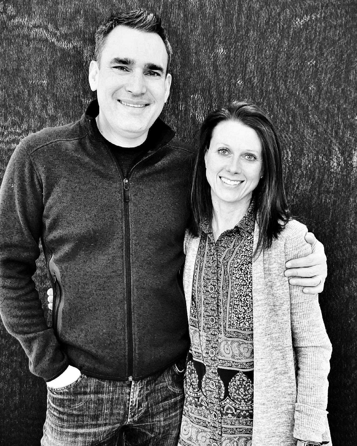 Team Old Montana  once about every couple months we get a good picture of both of us! whitefish custom home builder