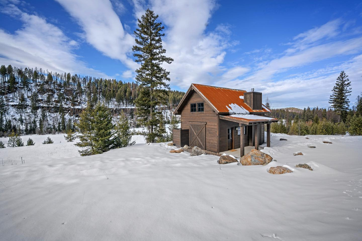 It's starting to feel like spring...these 50 degrees days make everyone happier, but especially construction workers. whitefish custom home builder