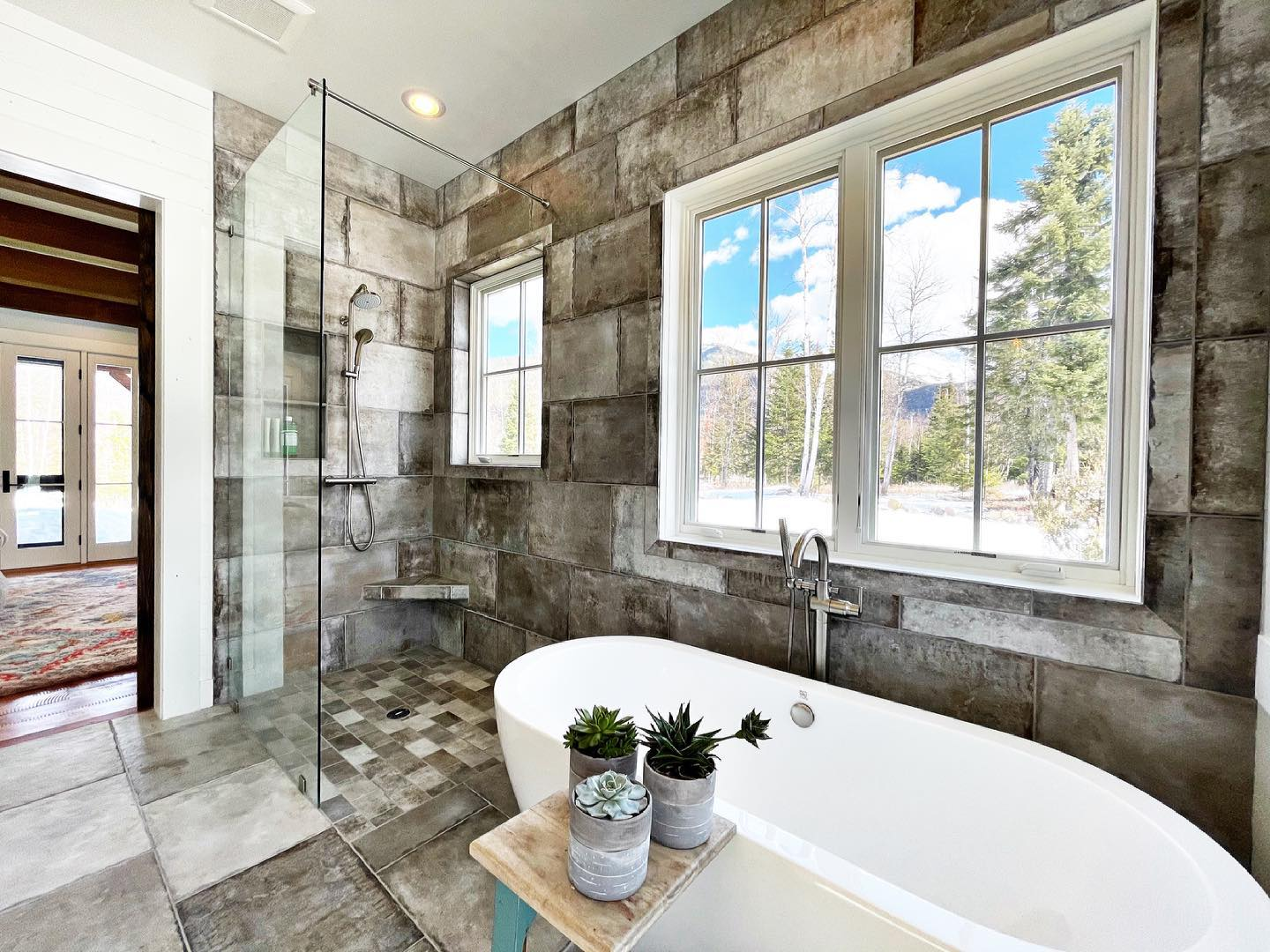 Makes you want to take a bath in the middle of the day, right?! whitefish custom home builder