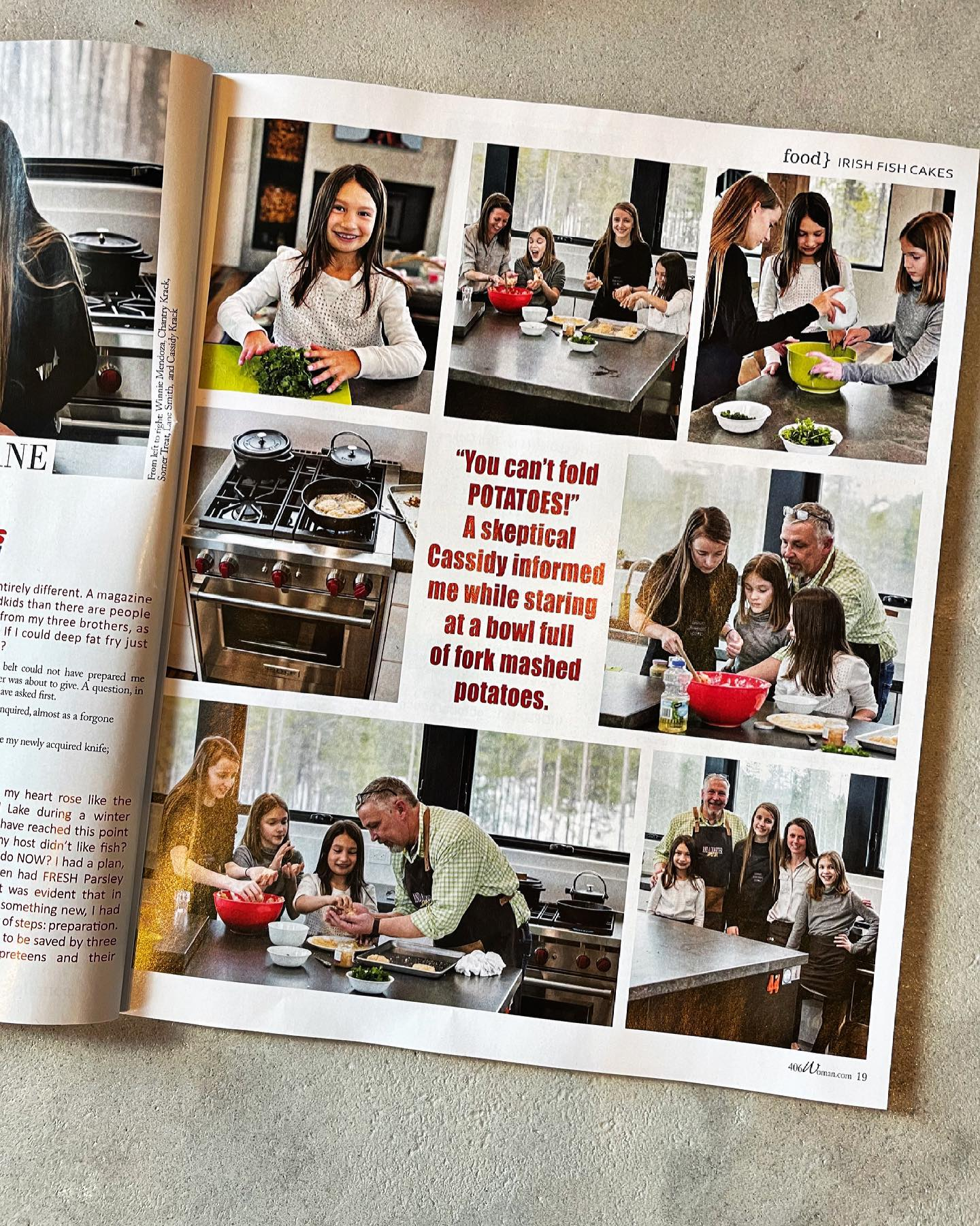 This month's addition of 406 Woman featured a little story on the Wild appliances in the Lookout (and my super cute little models!) whitefish custom home builder