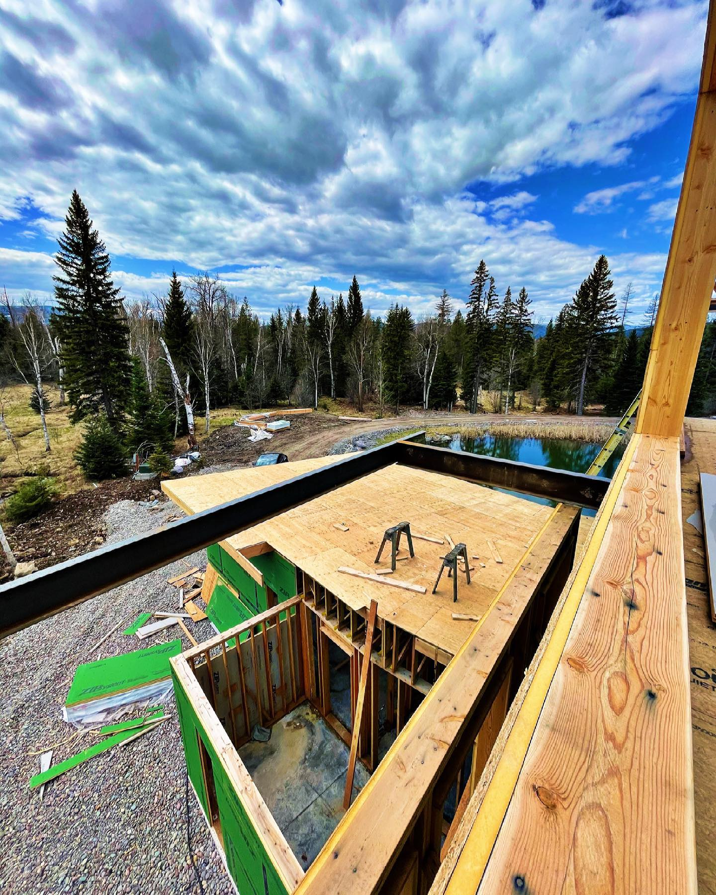 It's like a complex puzzle looking at this house from all its angles whitefish custom home builder