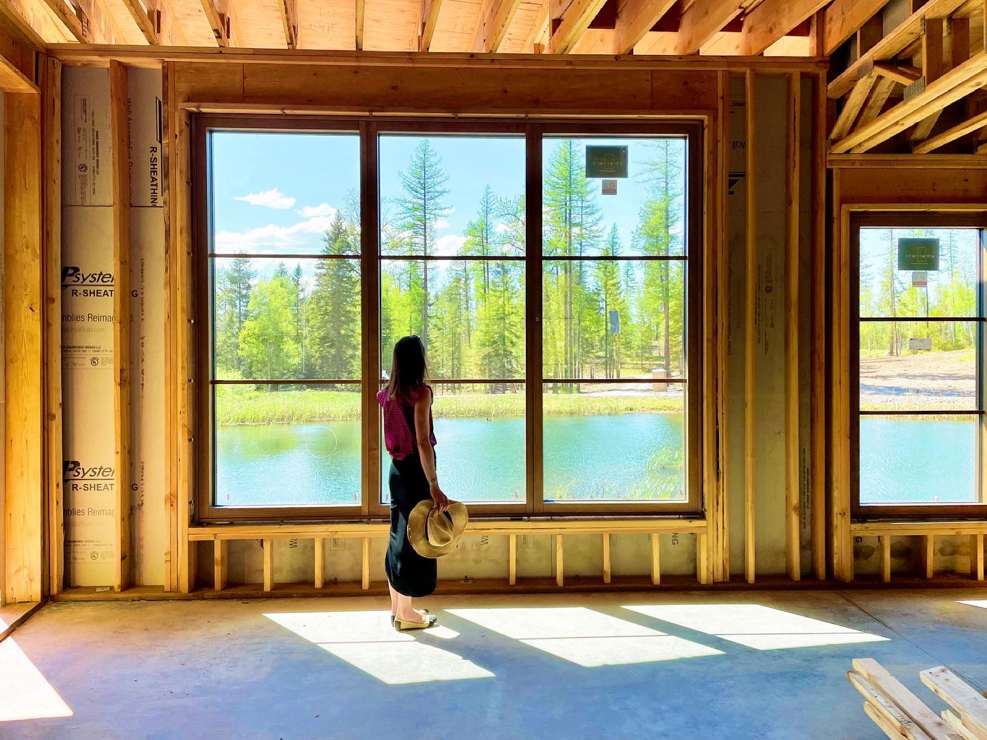 Windows to scale  (I'm roughly 5 feet) so they seem big enough! whitefish custom home builder