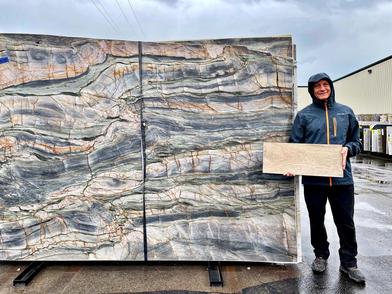 I'm loving this quartzite… whitefish custom home builder