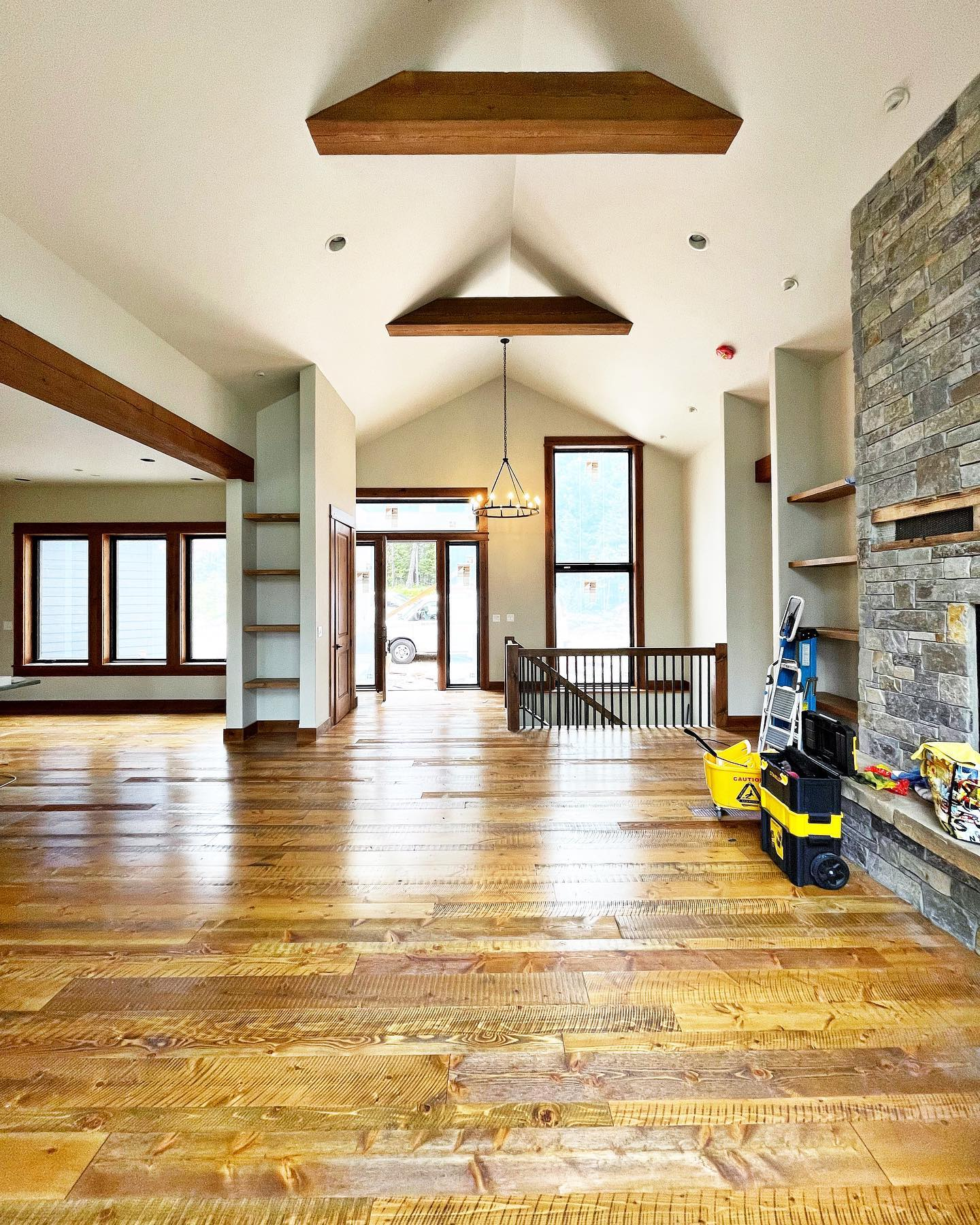 It takes so much work to get to this point…but it's always worth it! whitefish custom home builder