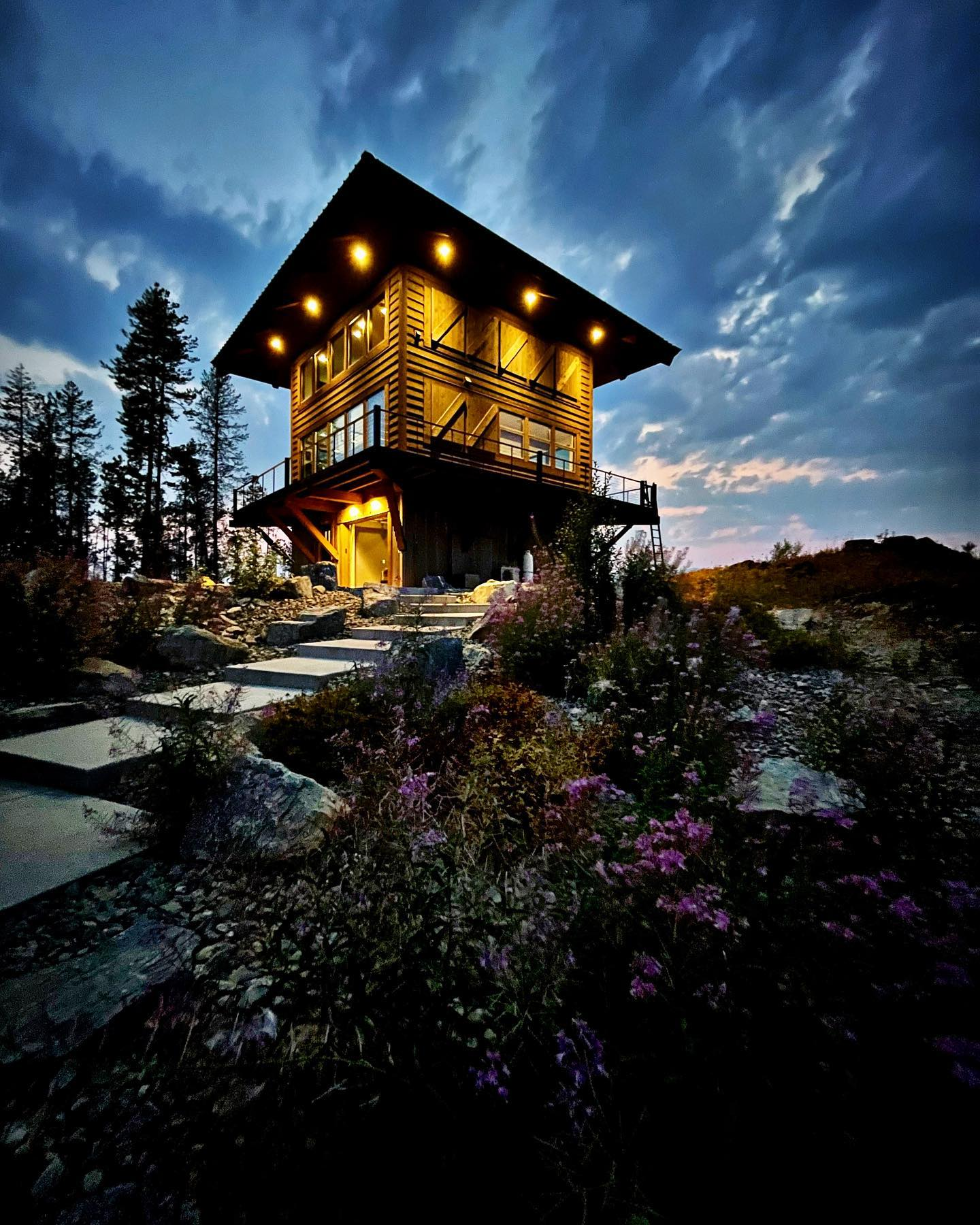 Summer nights are the best! whitefish custom home builder