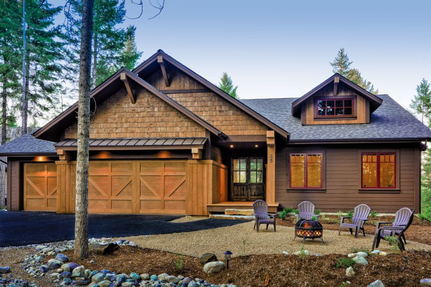 The woodlot whitefish custom home builder with new for Montana home builders