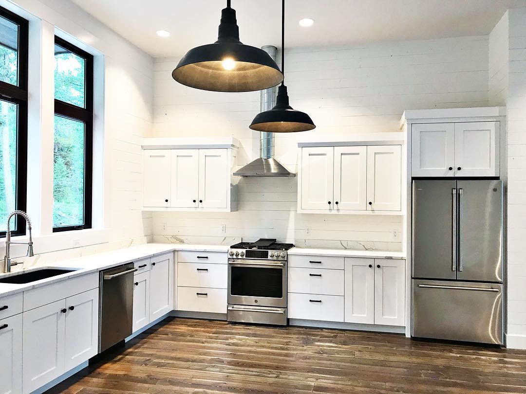 Finishing another modern farmhouse whitefish custom home builder