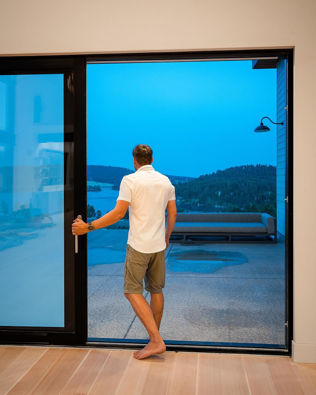 Just a little perspective on the size of these doors!! whitefish custom home builder