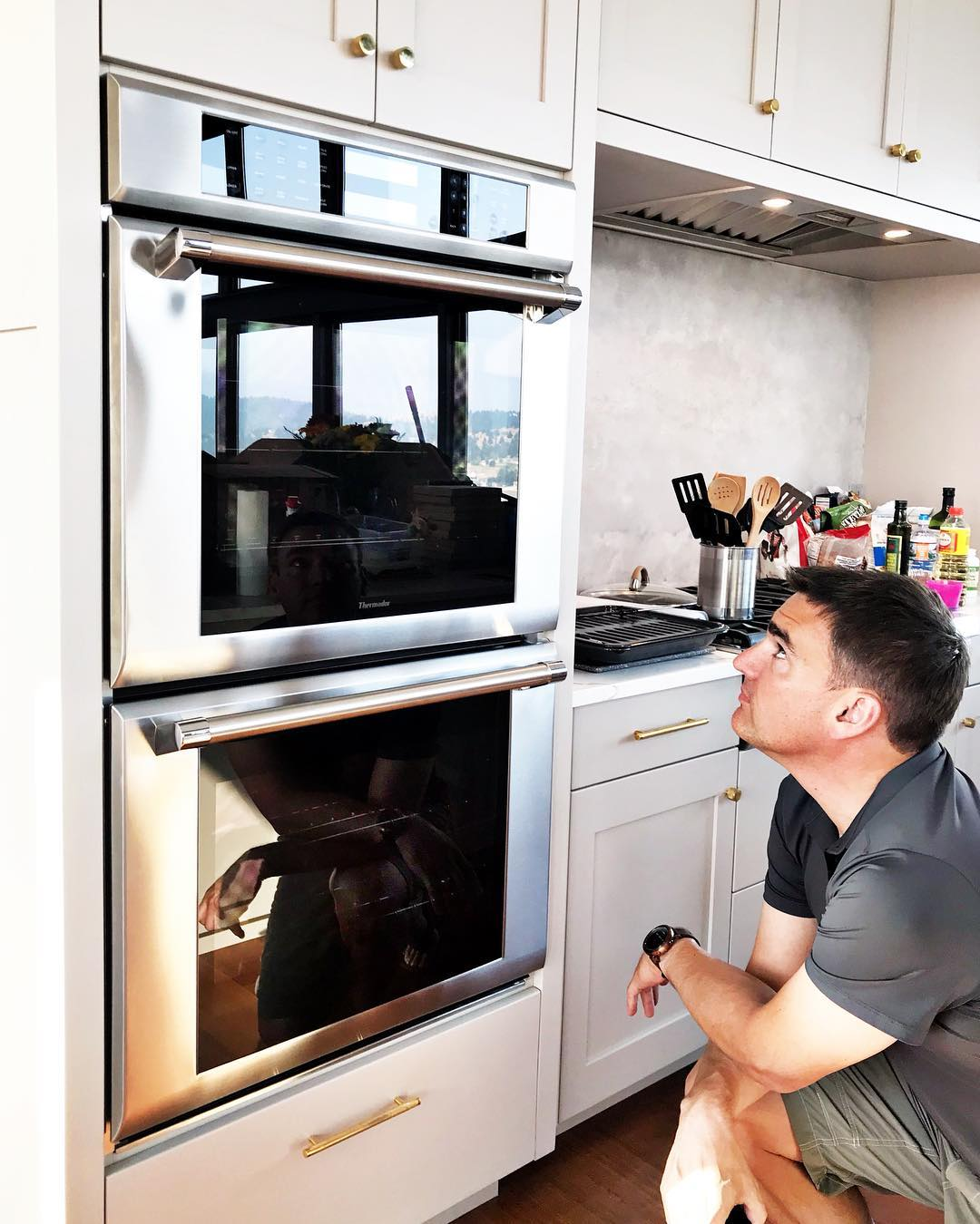 Builder of the year moment...yup, this is in fact a double oven!! whitefish custom home builder