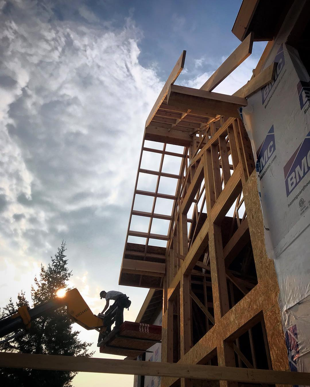 Good morning!! And yes, that's sun and blue sky peaking through the smoke!! whitefish custom home builder