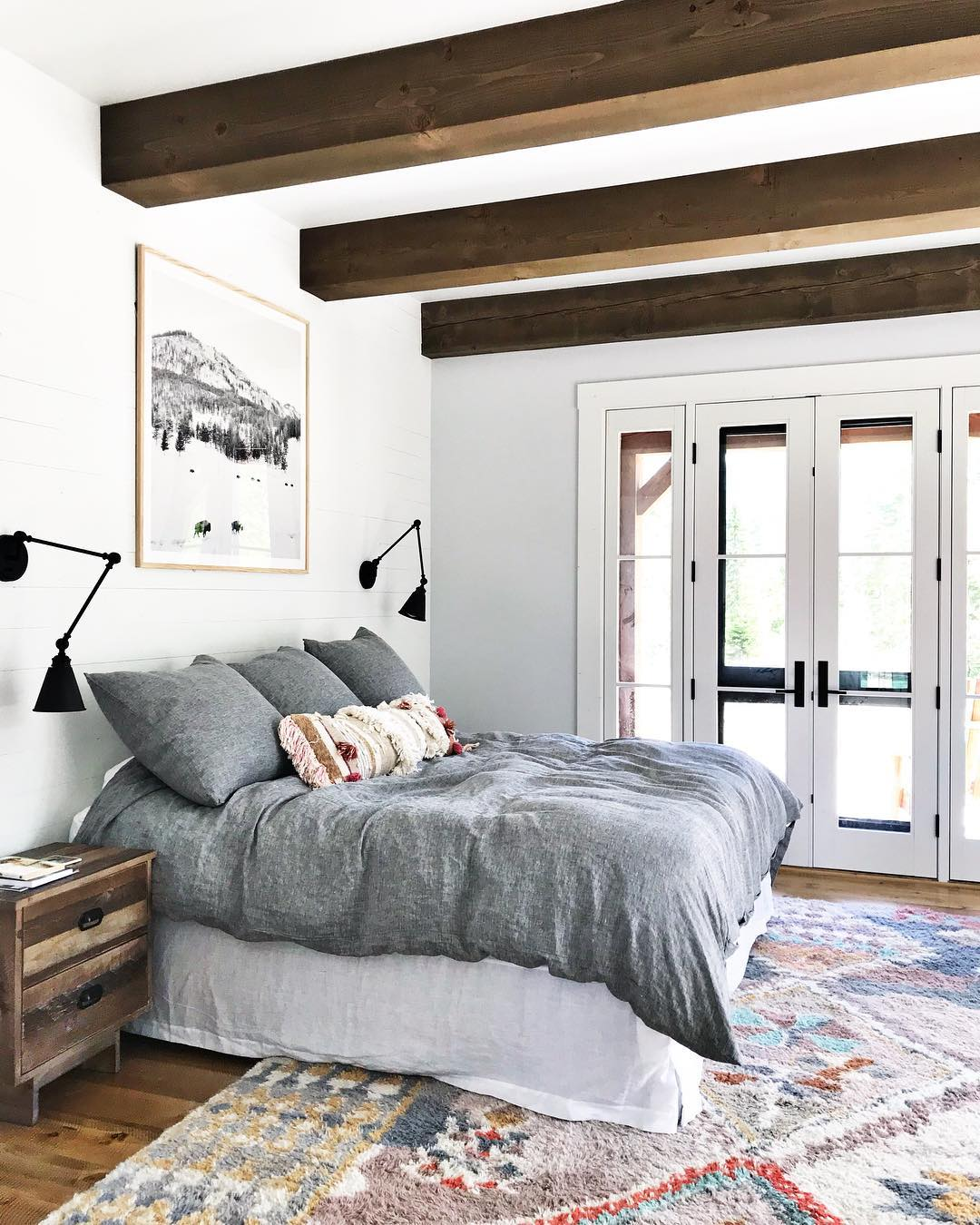 Master bedroom done mountain cozy whitefish custom home builder