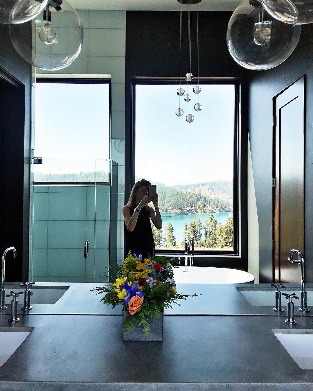 Master bath whitefish custom home builder