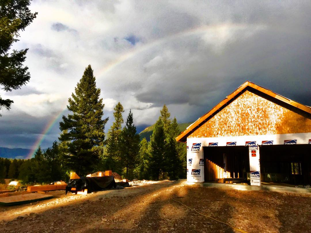 Jobsite rainbows!! whitefish custom home builder