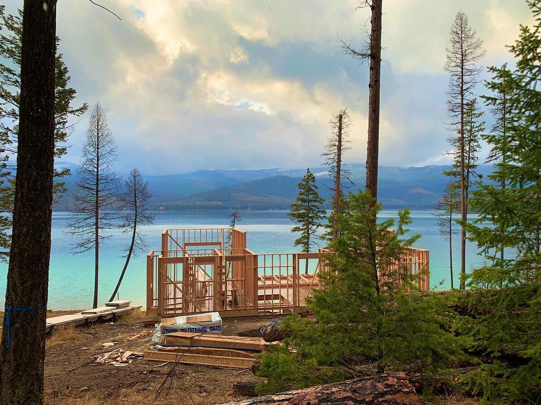 Ashley Lake...please please don't snow here!! whitefish custom home builder