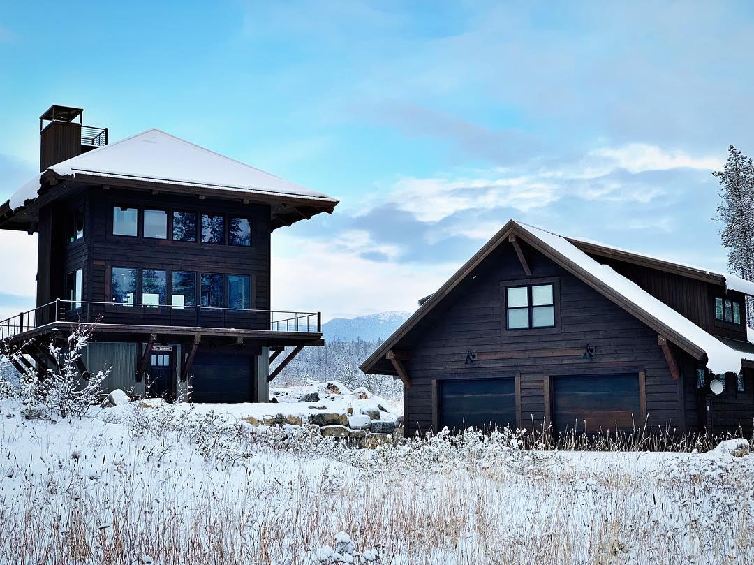Winter has hit the Lookout ️ whitefish custom home builder