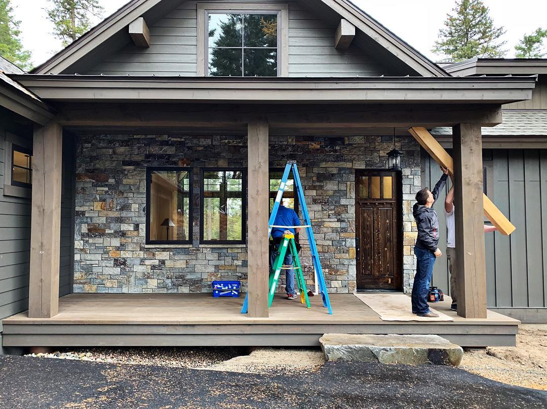 Final day...final details!! whitefish custom home builder