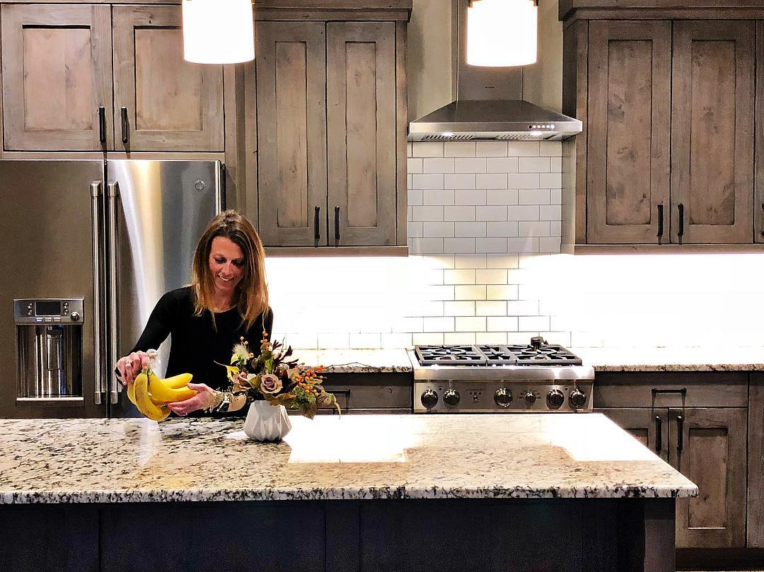 Our clients said tonight the house wasn't complete until there was a photo of Somer in the kitchen  (we started a trend!!) whitefish custom home builder