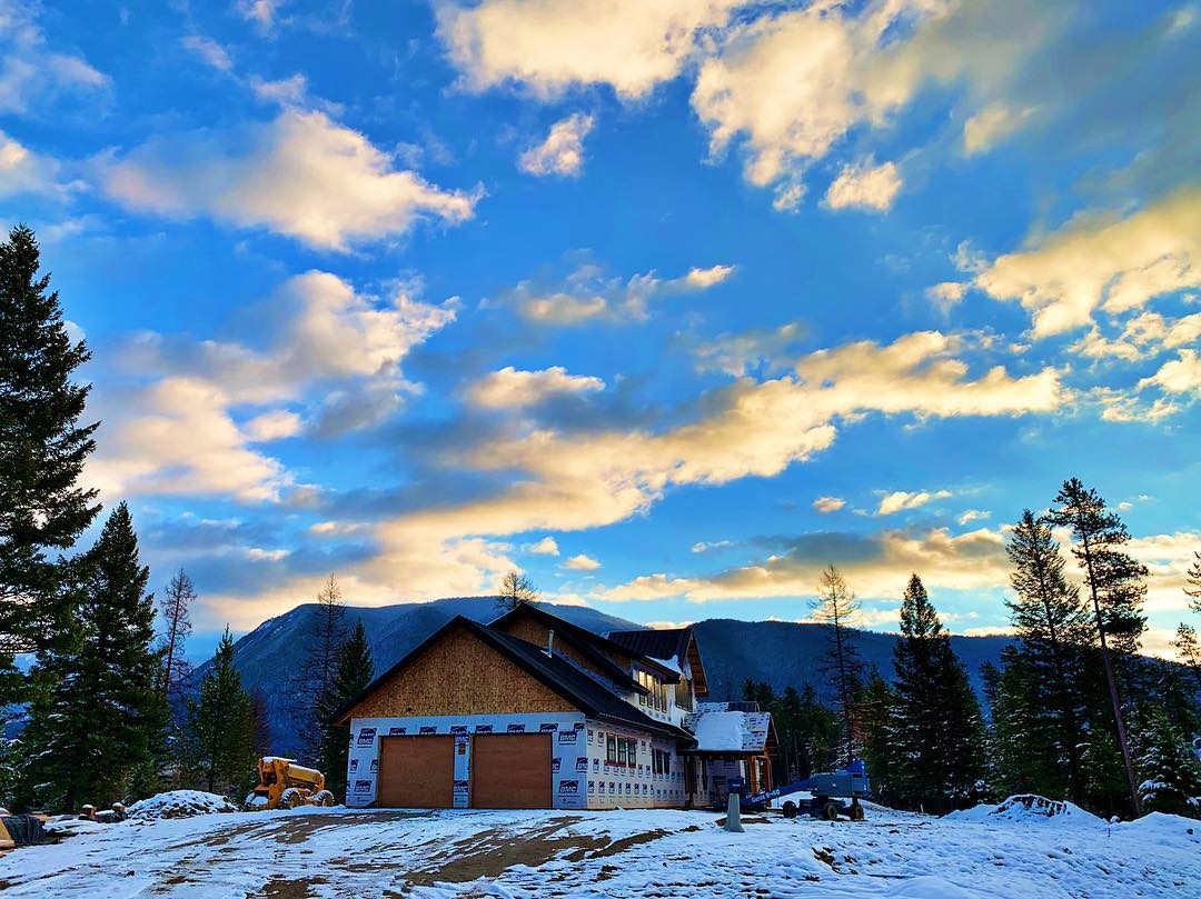 Good morning from the canyon!! whitefish custom home builder