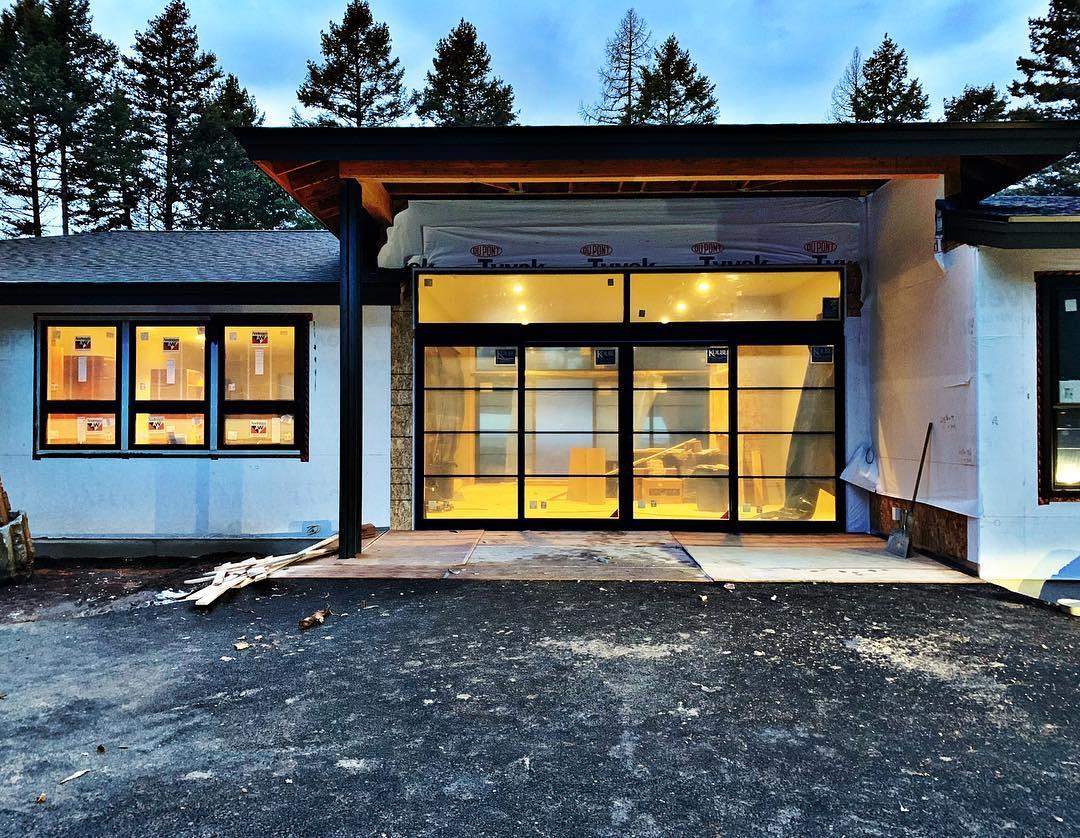 Definitely worth the wait!!! Love love love these Kolbe doors!! whitefish custom home builder