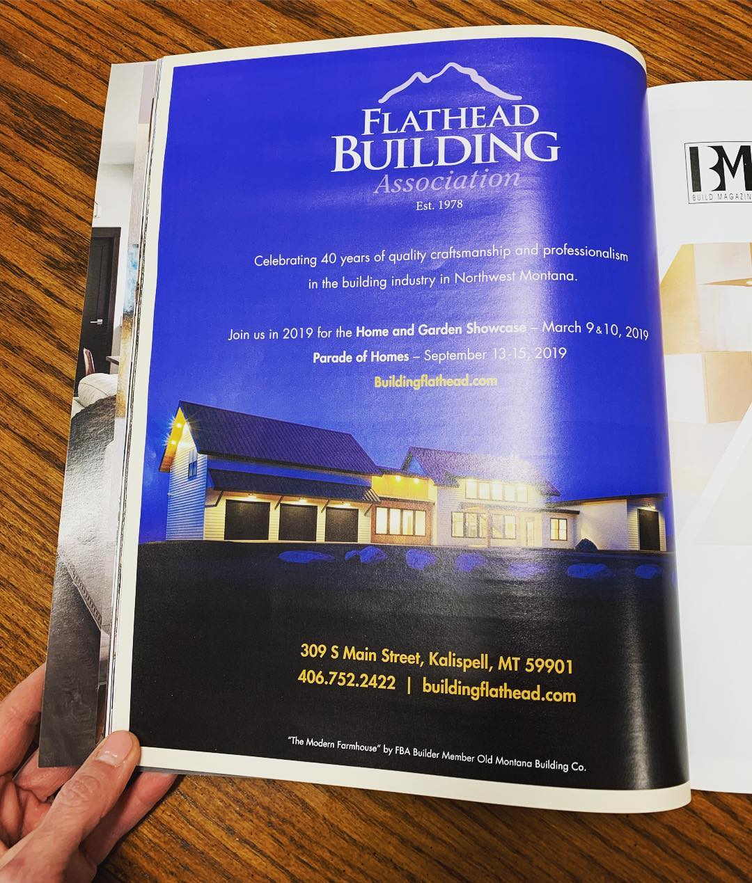 Honored to be the featured photo/home to represent the Flathead Building Association in the latest addition of Build Magazine ️ whitefish custom home builder