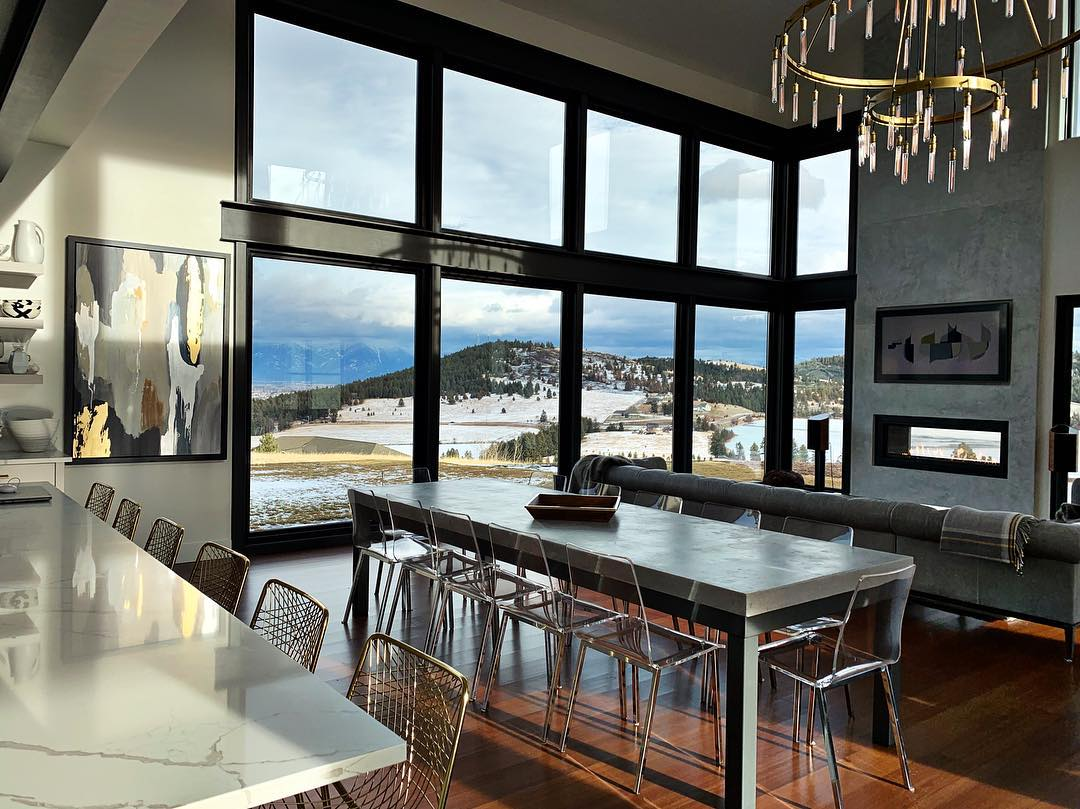 Doesn't get much better than this!! @awiwoodworks whitefish custom home builder