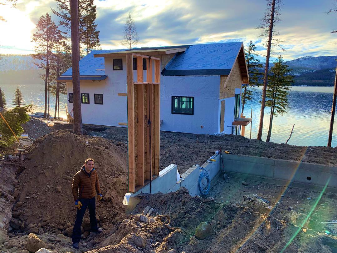 Ashley Lake whitefish custom home builder