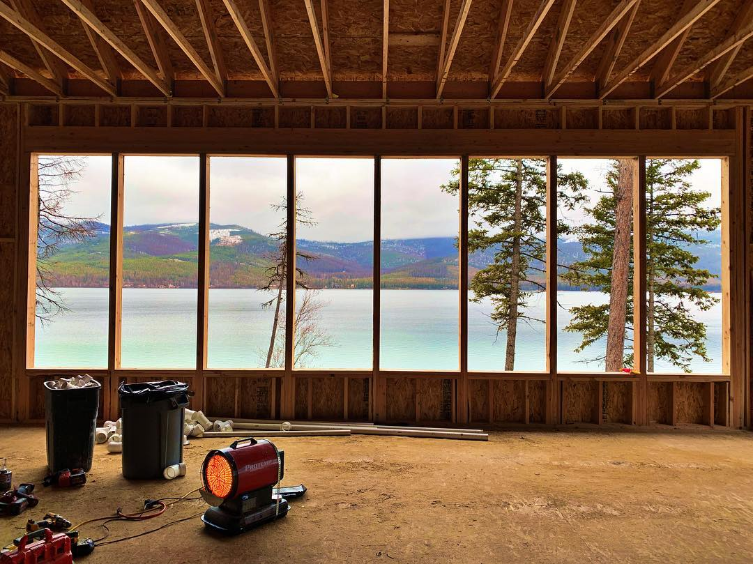Is there such a thing as too many windows?!? whitefish custom home builder