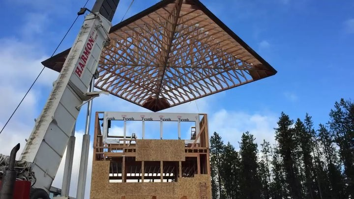 December 15th will always be THIS day in my life...the day we set trusses at the Lookout. Such a magical moment (and quite the story of you ever get to hear it!!) 4 years...isn't that crazy?!?! whitefish custom home builder
