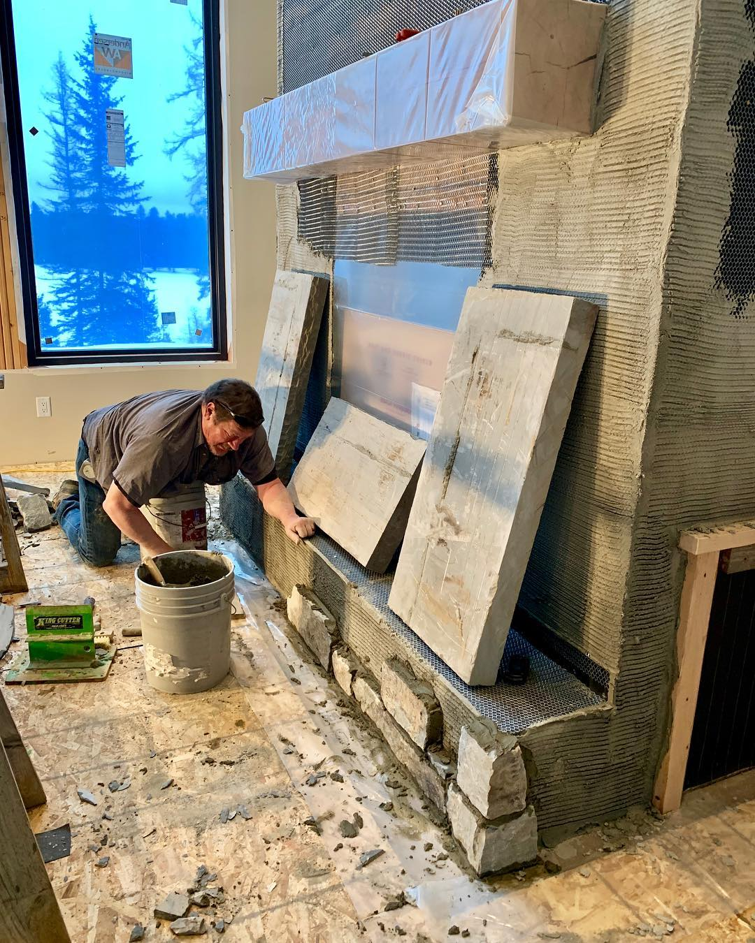 Another work of art in the making whitefish custom home builder