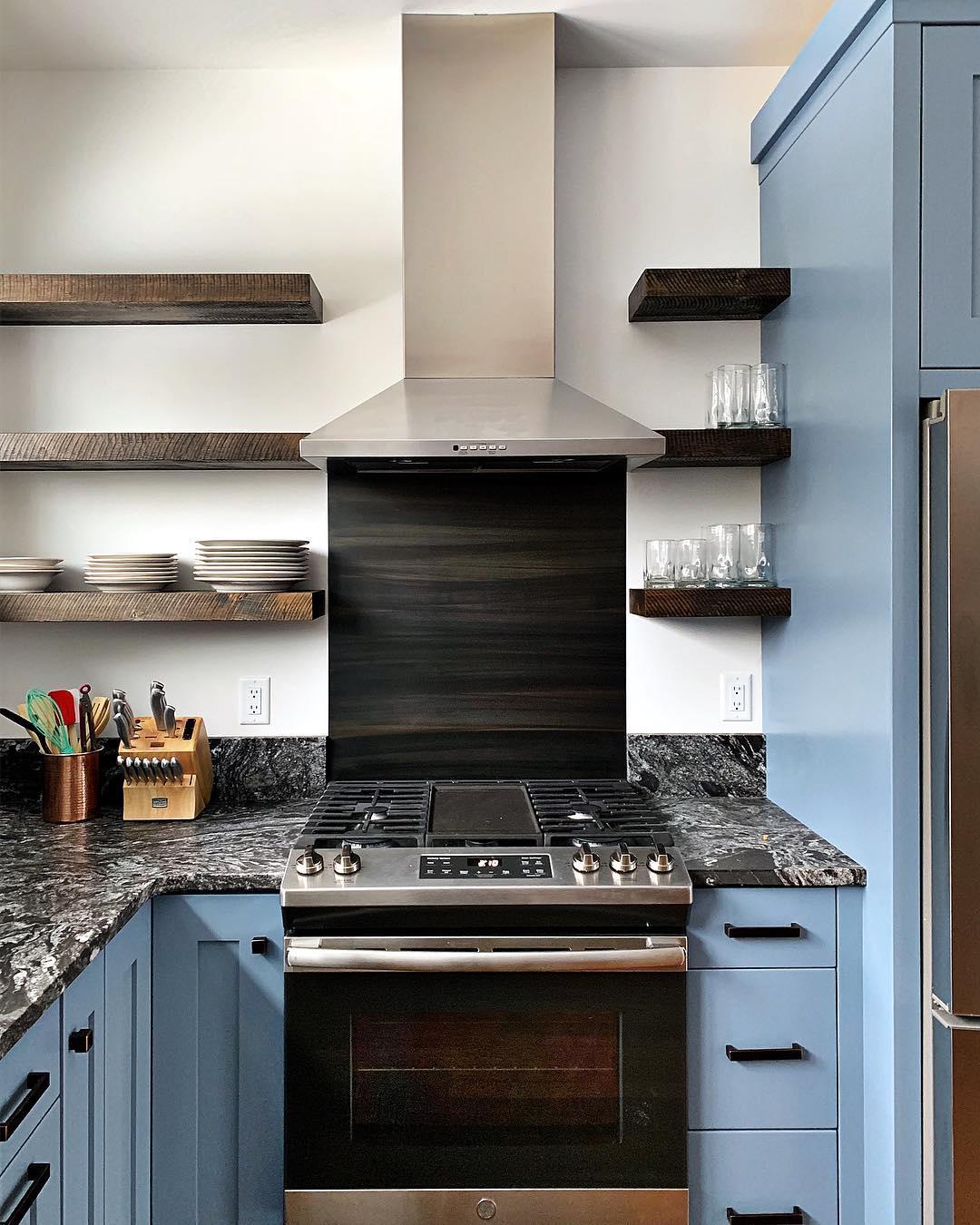 Cabin Kitchen ️ @cmtfabrication whitefish custom home builder