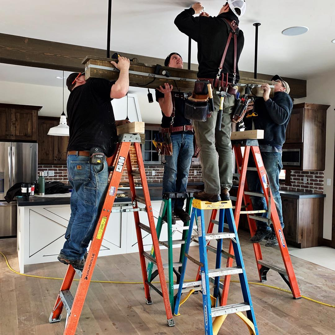 I seriously love my crews...best electricians, best carpenters, best team...EVER. whitefish custom home builder