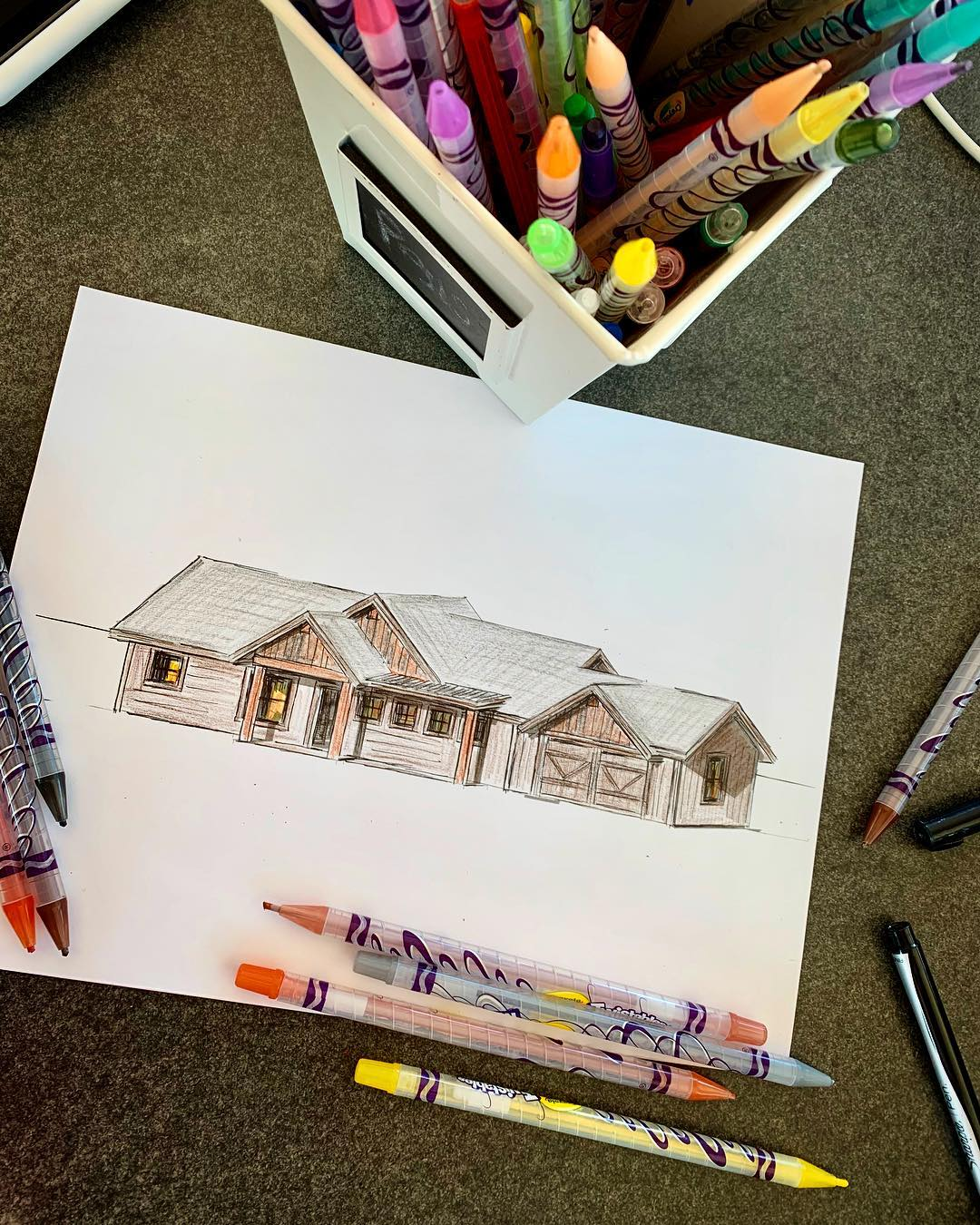 Sketching the new Spec today! Send me a message if you want an awesome new house in Whitefish whitefish custom home builder