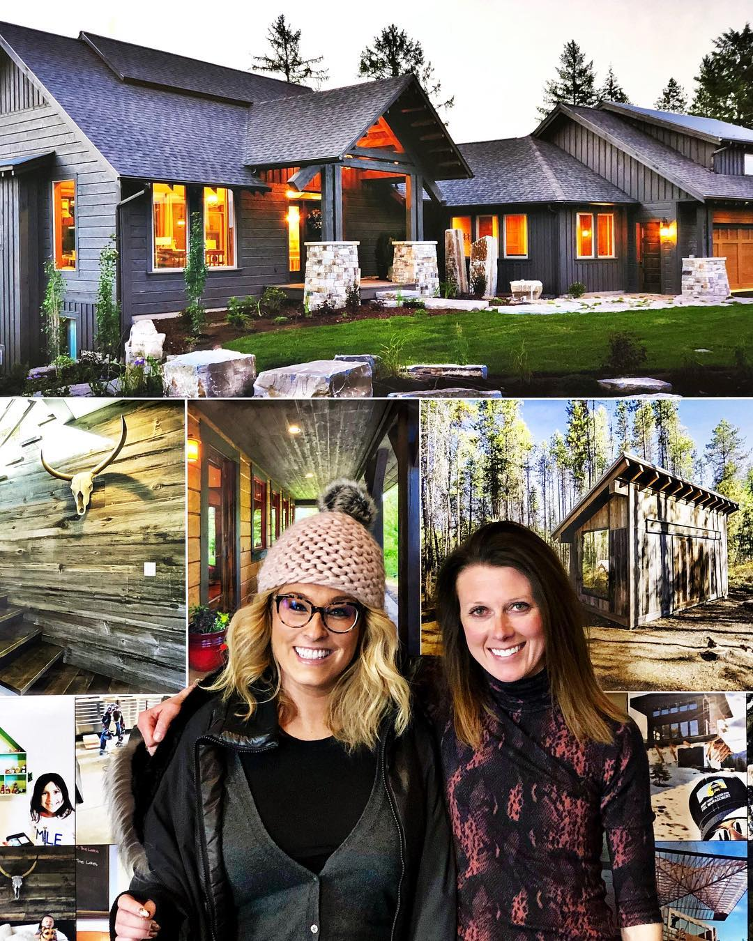 Drop in visit from one of the all time best clients ️ So good to see you @whitneymaronda whitefish custom home builder