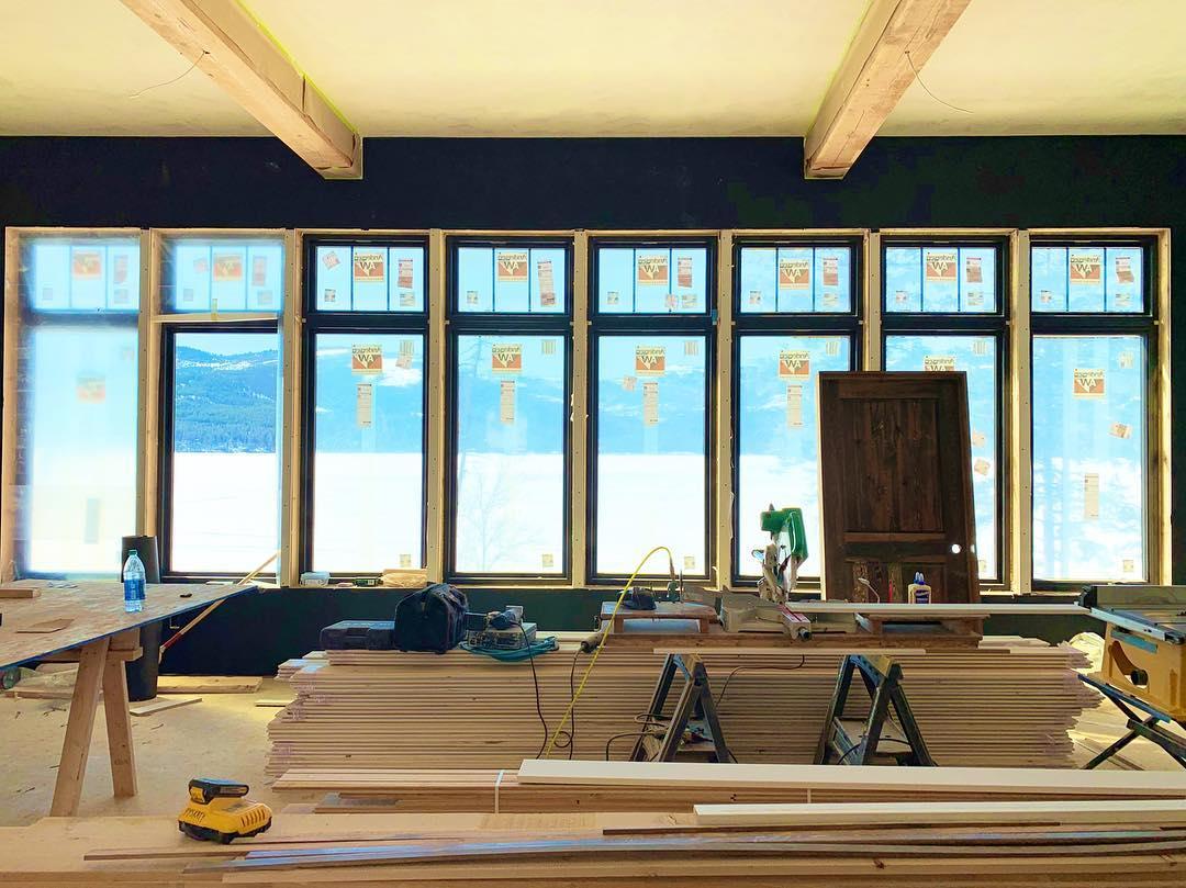 Window wall whitefish custom home builder