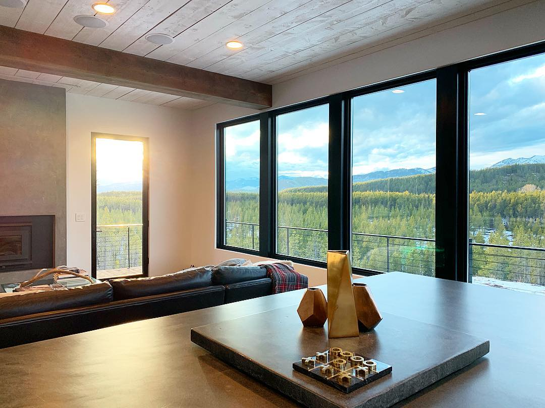 Spring sunset are the best (because you know summer is coming!!) whitefish custom home builder