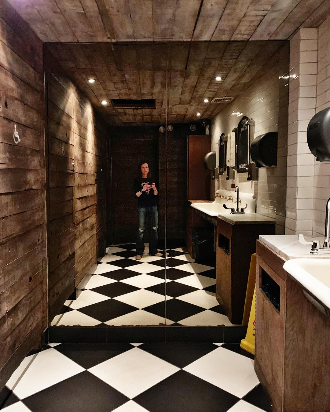 You know you are from Montana when you are excited enough to take a photograph of a NYC bathroom! whitefish custom home builder