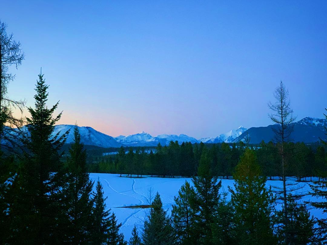 Closing down the day with one last jobsite view...we really do live in an amazing place! whitefish custom home builder